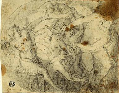 Study for Saint Michael Casting Out Lucifer
