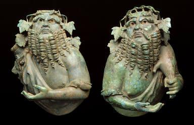 [Pair of Busts of Silenus, .1 Bust of Silenus (1 arm), .2 Bust of Silenus (2 arms)]