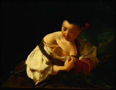 Peasant Girl Catching a Flea