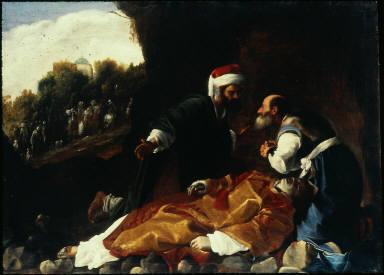 St. Stephen Mourned by Saints Gamaliel and Nicodemus