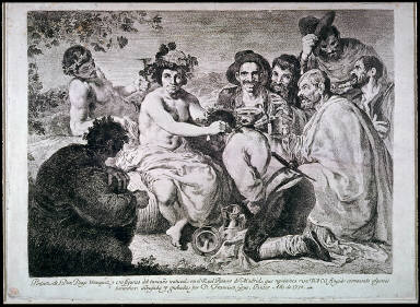 [Baco coronando ? los borrachos (Bacchus crowning drunken men), Bacchus (The Drunkards or Un baco fingido coronando algunos borrachos]