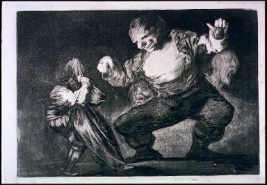 [Los Proverbios: 4. Bobabilicon (Disparates) de Bobolll, Disparates 4 -- Giant, from the series of XX plates, 'The Disparates']