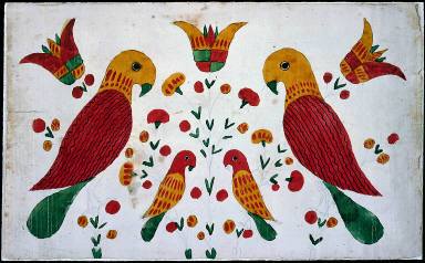 Parrots and Tulips (checked)