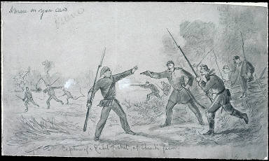 Capture of a Rebel picket at Stroud's Farm