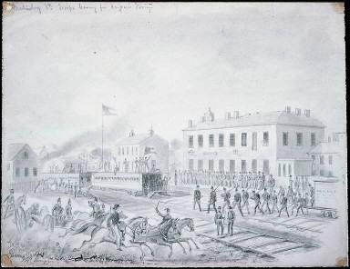 Martinsburg, VA: troops leaving for Harper's Ferry