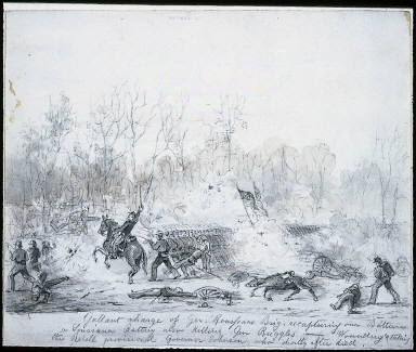 Gallant charge of Gen. Rousseau's Brigade