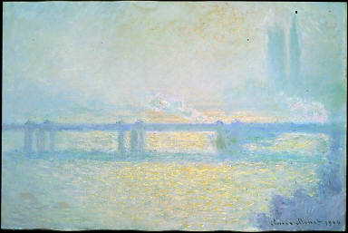 Charing Cross Bridge (overcast day), 1900