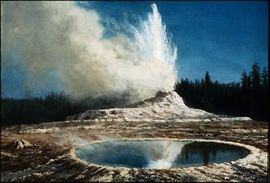 Geyser, Yellowstone Park