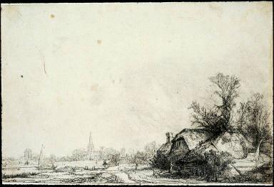 Cottage Beside a Canal: View of Diemen