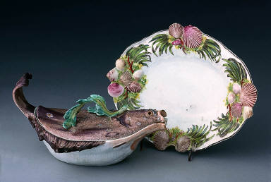 Covered Tureen in form of a Plaice