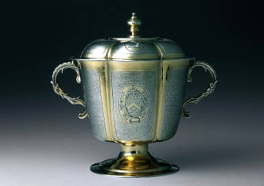 Two-handled cup and cover