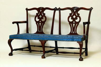 Double chairback settee