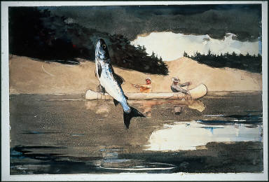 Ouananiche Fishing, Lake St. John, Province of Quebec