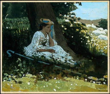 """Bo-Peep"" (Girl with Shepherd's Crook Seated by a Tree)"