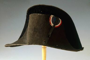 Man's bicorne hat with tricolor cockade
