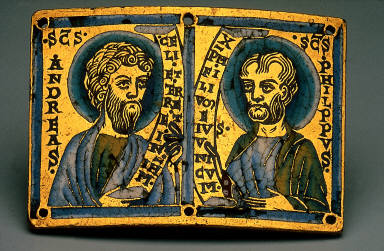 Plaque with Busts of Apostles Andrew and Philip