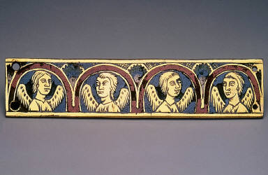 Plaque with Busts of Four Angels