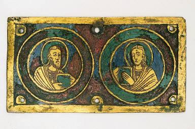 Plaque with Two Apostles