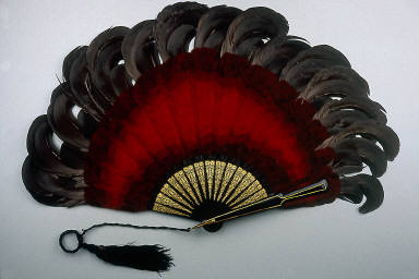 Feather brisé fan