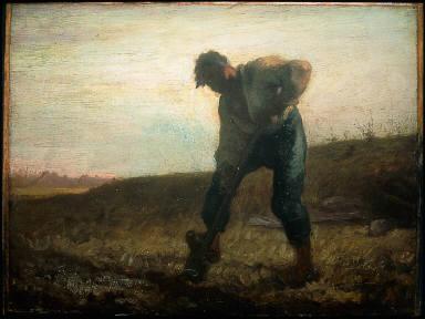 Man Turning over the Soil