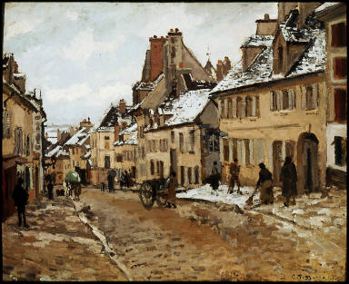 Pontoise, the Road to Gisors in Winter
