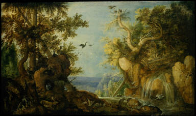 Rocky Landscape with Animals