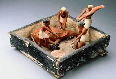 Model of a butcher's workshop