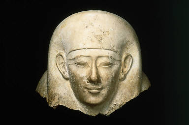 Head from an anthropoid sarcophagus