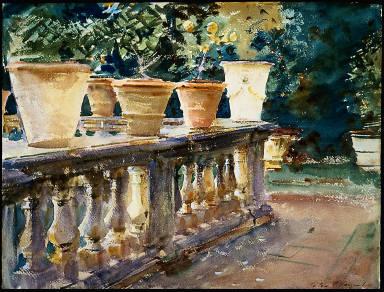 Villa de Marlia, Lucca: The Balustrade