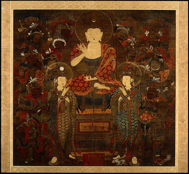 The Buddha of Healing (Yaksa Yorae) and Attendants