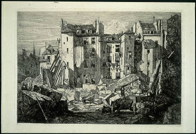 [D??molitions, rue des Ecoles, Demolition for the Creation of the Rue des Ecoles [D??molitions pour le]