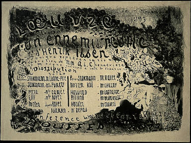 An Enemy of the People [Un ennemi du peuple] program for the play by Hendrik Ibsen at Théâtre de l'Oeuvre