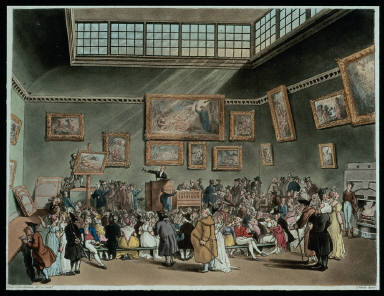'Christie's Auction Room' plate 6 from 'The Microcosm of London; or London in miniature'