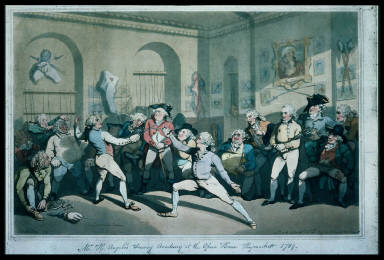 Mr. H. Angelo's Fencing Academy At the Opera House, Haymarket 1789