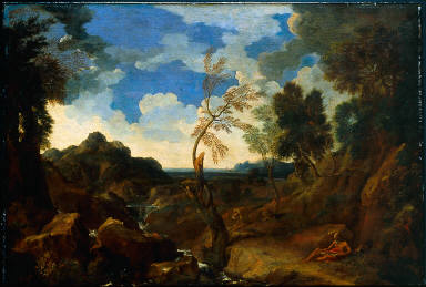 Landscape with Saint Jerome and the Lion