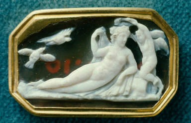 Cameo with Aphrodite and Eros