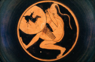 Kylix (wine cup) with archer