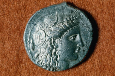 Stater or didrachm with head of Persephone