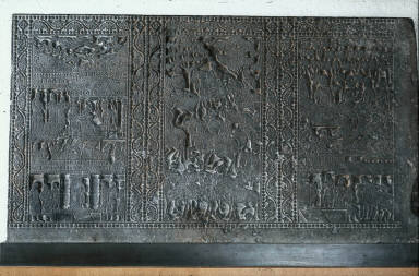 Slab from a mortuary couch