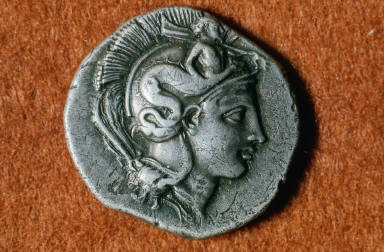 Nommos with head of Athena