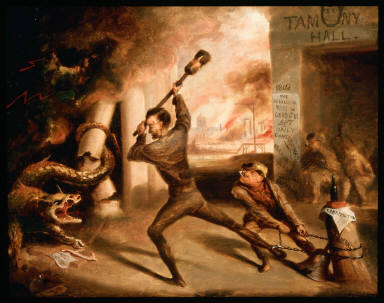 Lincoln Crushing the Dragon of Rebellion