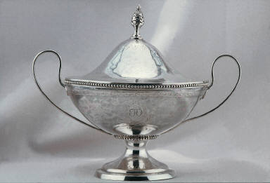 Two Handled Covered bowl