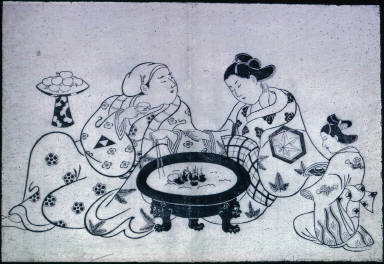 The Courtesan Conversing with a Client Next to a Hibachi