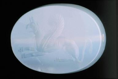 Intaglio gem with griffin