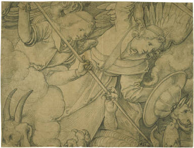 The Fall of the Rebel Angels (Two Angels Contending with Demons)