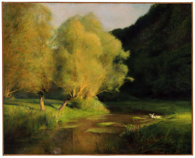 Willows by a Stream