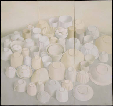 Cups and Bowls on Round Table