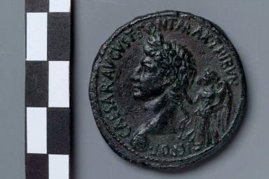 Sestertius of M. Maecilius Tullus with head of Augustus