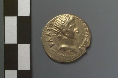 Aureus struck under Galba with head of Augustus
