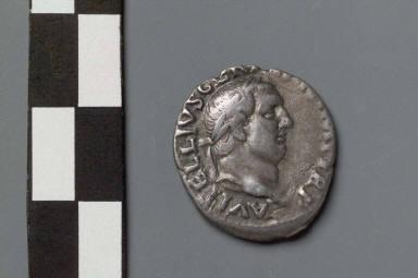 Denarius with head of Vitellius